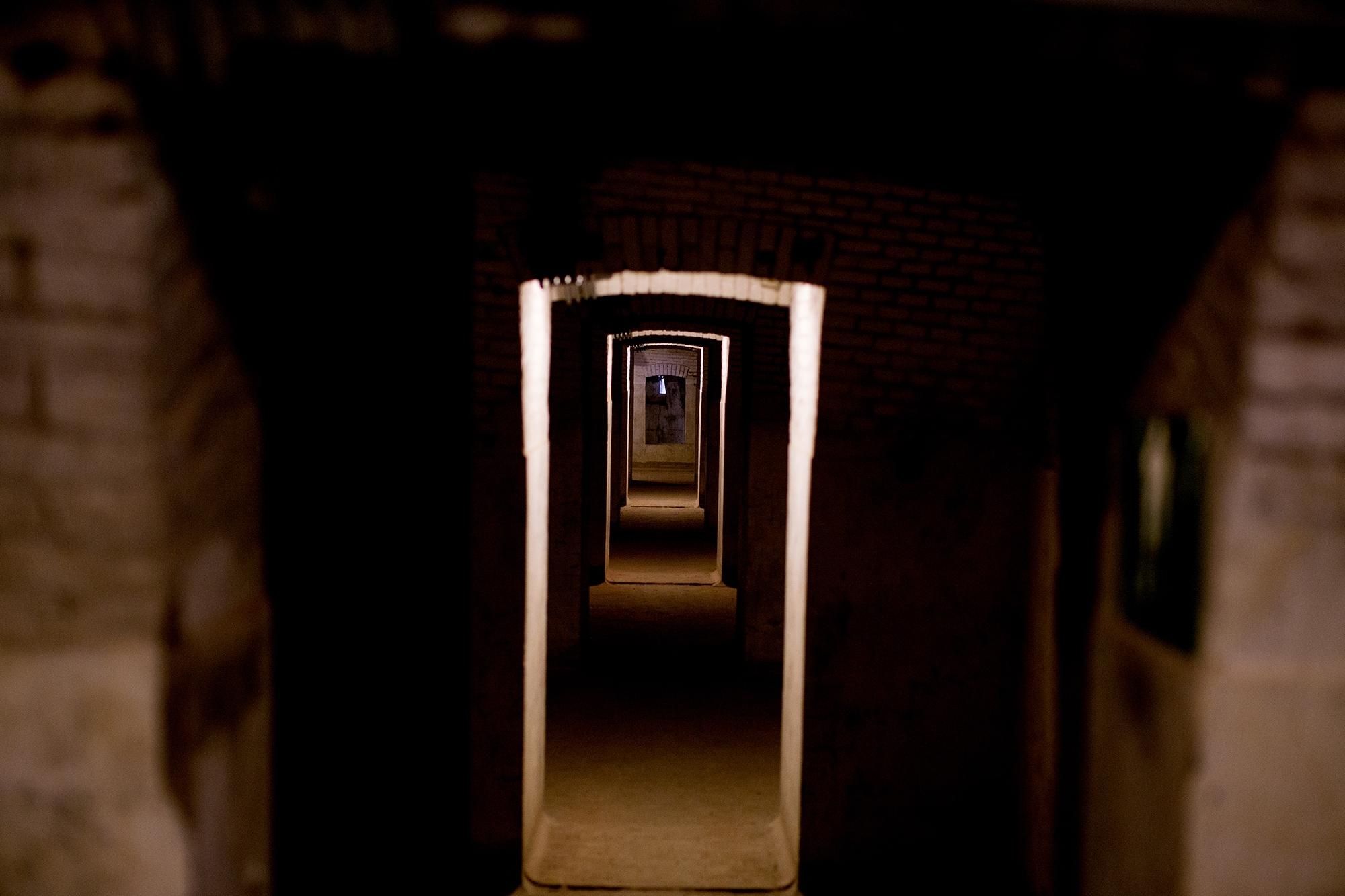 De gangen van Fort Pannerden
